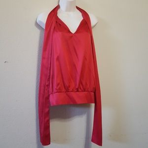 New York & Company Tie Front Blouse Size M